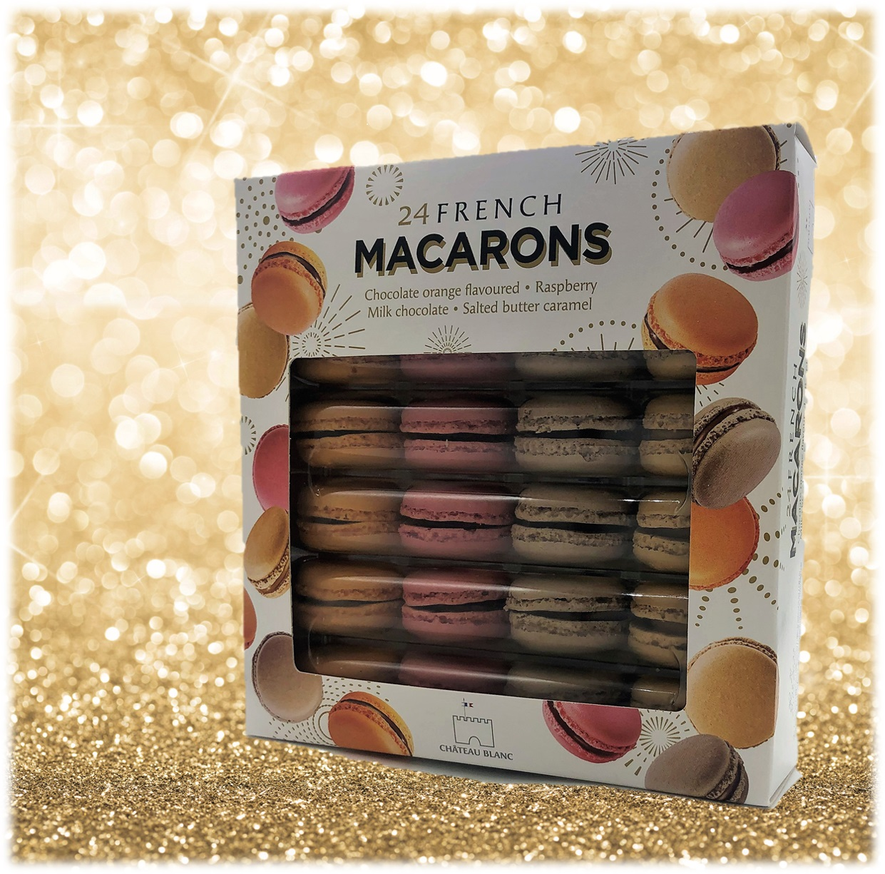 pack 24 macarons Château Blanc